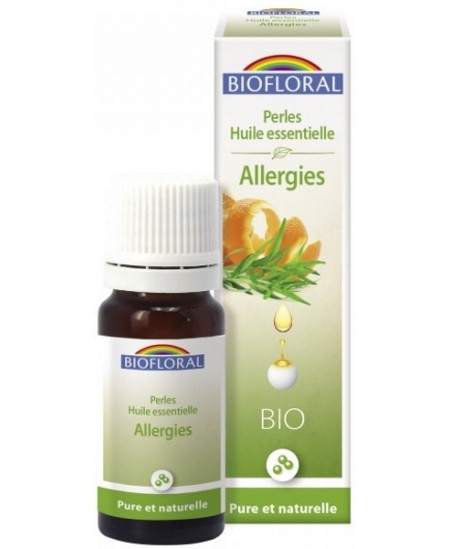 Perles d'huiles essentielles Bio Complexe Allergies 20 Ml - Biofloral aromathérapie Espritphyto