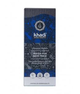 Khadi Coloration végétale Indigo Pur Noir Froid 100 gr noir profond espritphyto