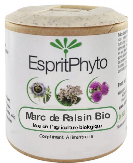 EspritPhyto - Marc de Raisin bio - 90 gélules