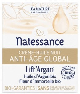 Lift' Argan - Crème Huile Nuit Anti Âge Global - 50 ml
