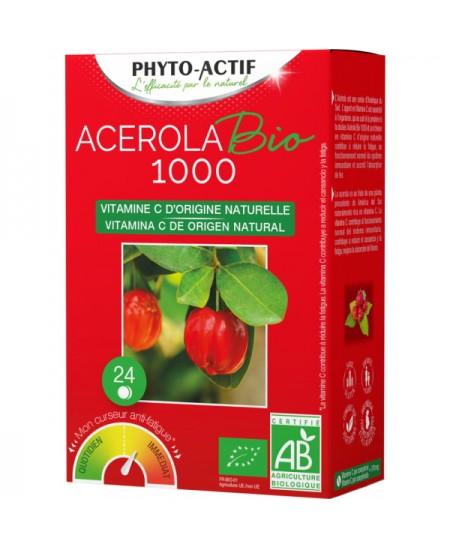 Phyto-Actif - Acérola Bio 1000 AB 24 comprimés Lot de 2 Tubes