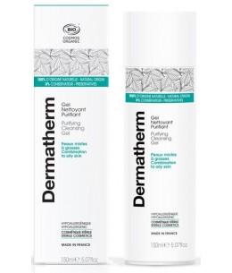 Dermatherm - Gel nettoyant Purifiant Peaux mixtes et grasses - 150ml eau thermale aloe vera Espritphyto