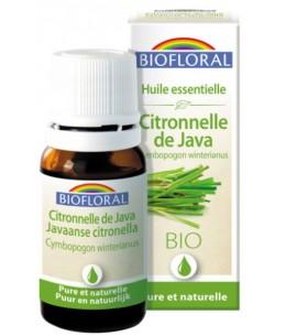 Huile essentielle bio Citronnelle de Java - 10 ml - Biofloral anti sensibilités antiseptique Espritphyto
