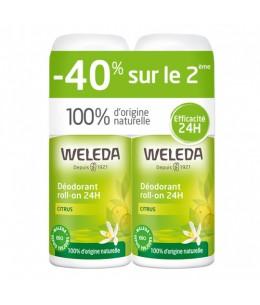 Weleda - Duo Déodorant roll on 24h Citrus – 2 x 50ml