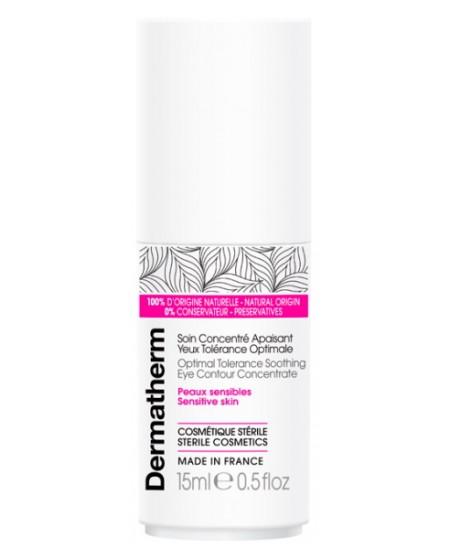 Dermatherm - Soin concentré apaisant yeux tolérance optimale - 15 ml peaux sensibles contour de l'oeil Espritphyto