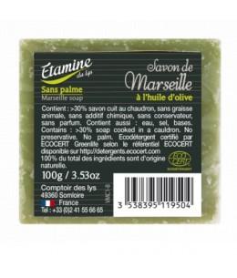 Etamine du Lys - Savon de Marseille vert - 100 gr