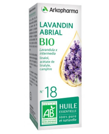 Huile Essentielle de Lavandin Abrial bio 10ml Arkopharma Lavandula intermedia lavandula hybrida Espritphyto