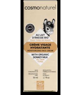 Cosmo Naturel - Crème de jour au lait d'ânesse + HE toutes peaux - 50 ml