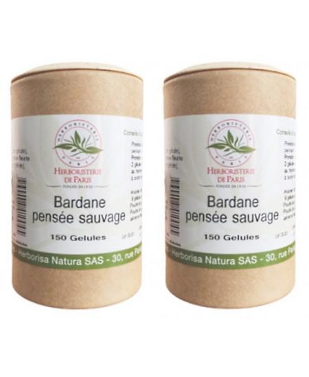 Herboristerie de paris - Bardane Pensée Sauvage lot de 2 boites 2 x 150 gélules beauté Espritphyto
