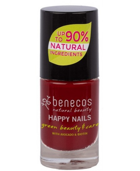 Benecos - Vernis à ongles Cherry Red 5ml maquillage des ongles vegan Espritphyto