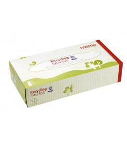 Droguerie Ecologique - Boîte de 100 mouchoirs memo, papier recyclé 4 épaisseurs