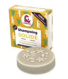 Lamazuna - Shampoing solide naturel Cheveux normaux Sapin - 55 gr