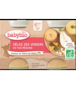 Babybio - Petits pots Délice de fruits 2X 130g - dès 6 mois