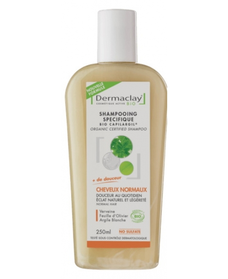Dermaclay  - Shampoing usages fréquents Argile blanche - 250 ml