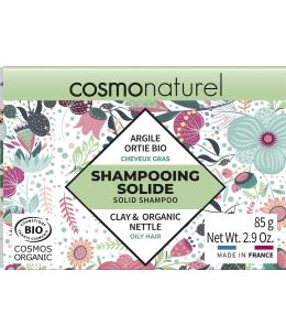 Cosmo Naturel - Shampooing solide Cheveux Gras - 85gr pain de savon lavant cheveux argile ortie Espritphyto