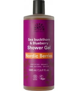 Gel douche Nordic berries - 500 ml - Urtekram gel douche énergisant aux baies nordiques Espritphyto