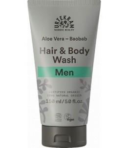 Urtekram - Shampoing douche 2 en 1 homme Aloe Vera Baobab - 150ml pour les hommes occupés Espritphyto