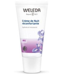 Crème de nuit réconfortante à l'Iris hydrate et ressource 30ml - Weleda régénère l'épiderme Espritphyto
