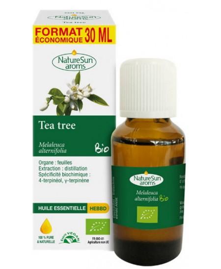 Naturesun' Aroms Huile essentielle de Tea Tree bio Flacon compte gouttes 30ml arbre à thé economique Espritphyto