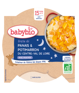 Babybio - Mon Assiette Bonne nuit gratin de Panais Potimarron dès 15 mois - 260 gr
