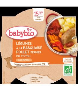 Babybio - Mon Assiette Légumes à la Basquaise et Poulet Fermier dès 15 mois - 260 gr