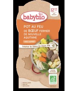Babybio - Bol Menu du jour Pot au feu au Boeuf d'Aquitaine Dès 12 mois 2 x 200 gr