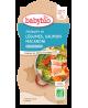 Babybio - Bols Printanière de Légumes Saumon et Macaronis dès 12 mois - 2 x 200 gr
