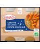 Babybio - Duo Menu Bonne Nuit Carotte Patates Douces Blé dès 6 mois - 2 x 200 gr