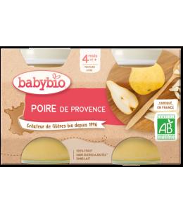 Babybio - Petits pots Poires Williams 2x130gr - dès 4 mois