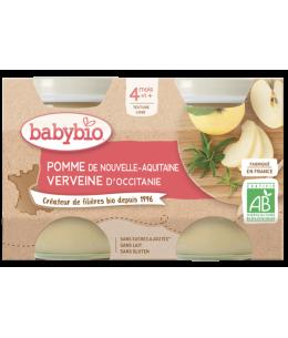 Babybio - Petits pots Pomme d'Aquitaine 2x130gr - dès 4 mois