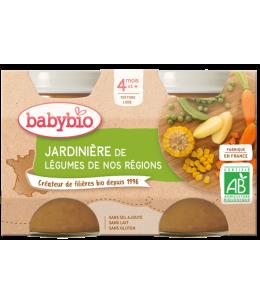Babybio - Petits pots Jardinière de légumes 2x130gr - dès 4 mois