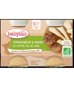 Babybio - Petits pots Topinambour et Panais dès 8 mois - 2x200 gr