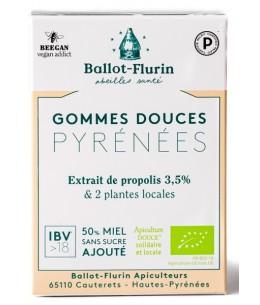 Ballot Flurin - Gommes à la propolis brute purifiée sans sucre ajouté - 40 gr