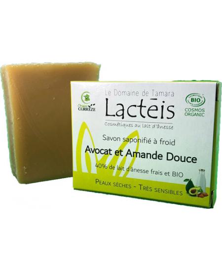 Le Domaine de Tamara Savon Avocat et Amande douce à 40pc de lait d'ânesse Lactéis peau sensible Espritphyto