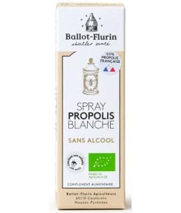 Spray propolis blanche sans alcool 15 ml Ballot Flurin défenses naturelles Espritphyto