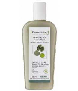 Dermaclay  - Shampoing Cheveux gras Pin Bardane Argile verte - 250 ml