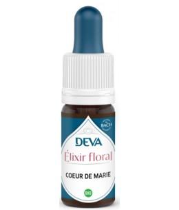 Elixir Floral Deva Coeur de Marie - Deva 10 ml compte gouttes libération émotionnelle Espritphyto