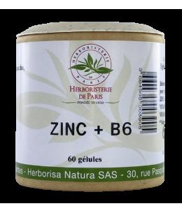Herboristerie De Paris - Zinc B6 - 60 gélules
