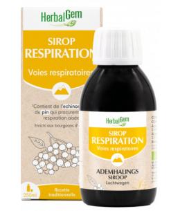 Sirop pour la Respiration bio Flacon - 250 ml - Herbalgemlibère la respiration et l'immunité Espritphyto