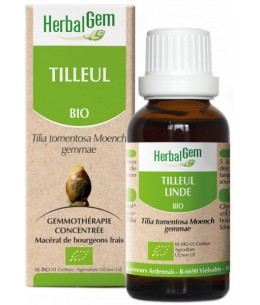 Herbalgem - Tilleul bio Flacon compte gouttes - 50 ml troubles du sommeil Espritphyto
