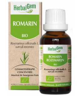 Romarin bio Flacon compte gouttes - 50 ml - Herbalgem soutien du foie Espritphyto