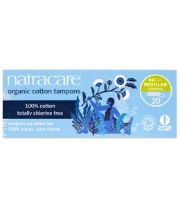 NatraCare - 20 Tampons Hygiéniques Bio Sans Applicateur - Normal