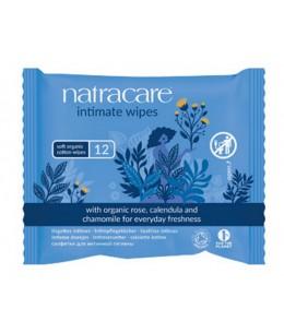 Natracare - 12 Lingettes intimes en Coton Biologique 12 pièces
