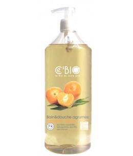 C'bio - Bain et douche Agrumes Mandarine Orange  1L Espritphyto