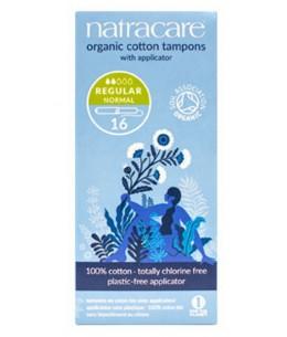 NatraCare - 16 Tampons Hygiéniques Bio Avec Applicateur - Normal