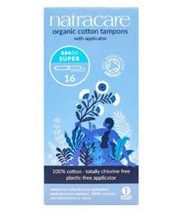 NatraCare - 16 Tampons Hygiéniques Bio Avec Applicateur - Super