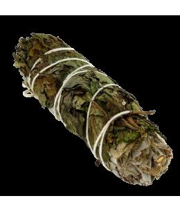 Sauge Blanche & Menthe Poivrée - Bâton de Fumigation de 20-30 grs - 12 cm