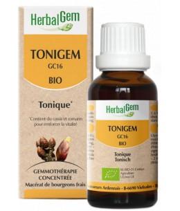 Tonigem Bio Flacon compte gouttes - 50 ml - Herbalgem tonus vitalité Espritphyto