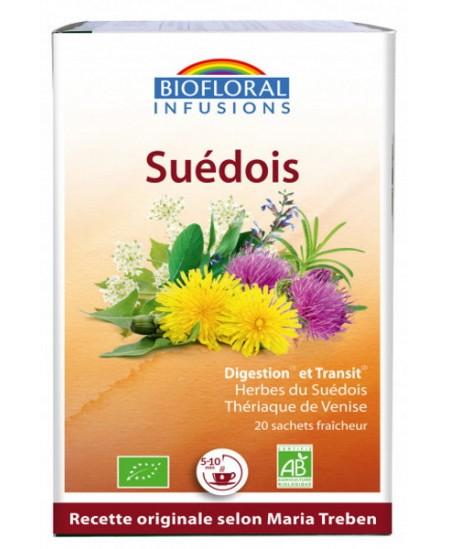 Infusion Elixir du Suédois dépuratif 59 plantes -20 sachets- Biofloral Maria Treben Espritphyto