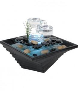 Fontaine à eau d'Intérieur verre et céramique - Himalaya - Zen'Arôme sérénité relaxation Espritphyto